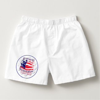 Hillary latest campaign slogan sleep wear Men Box Boxers