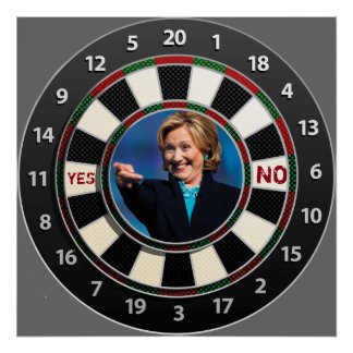 """Hillary """"Paper Ball Target"""" play Poster"""