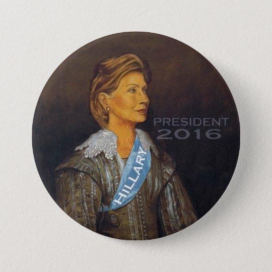 HILLARY PRESIDENT 2016 7.5 CM ROUND BADGE