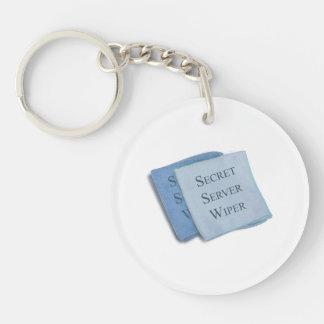 Hillary Secret Server Wiper Double-Sided Round Acrylic Key Ring
