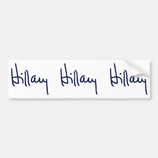 Hillary Signature Bumper Stickers