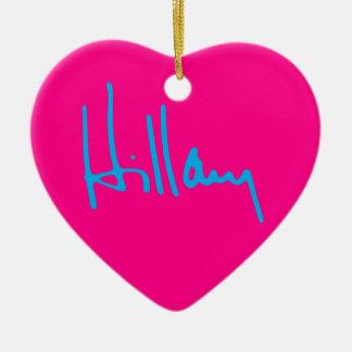"""HILLARY"" single-sided Ceramic Heart Decoration"