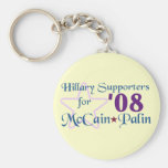 Hillary Supporters for McCain Palin Keychain