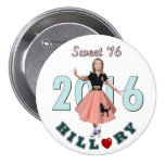 Hillary Sweet '16 7.5 Cm Round Badge
