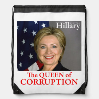 HILLARY THE QUEEN DRAWSTRING BAG