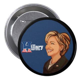 Hillary Twenty Sixteen 7.5 Cm Round Badge