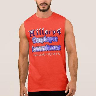 Hillary USA vote  president Employee commitment Sleeveless Shirt