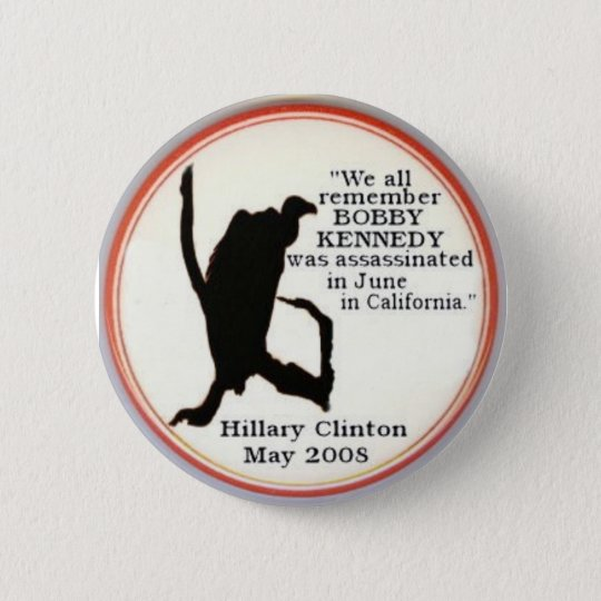 Hillary Vulture sillhouette Button