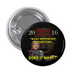 HILLARY WHAT DIFFERENCE 3 CM ROUND BADGE