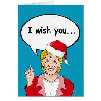 Hillary wishes you Ameri-Christmas Greeting Card