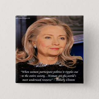 Hillary Women Resource Quote 15 Cm Square Badge