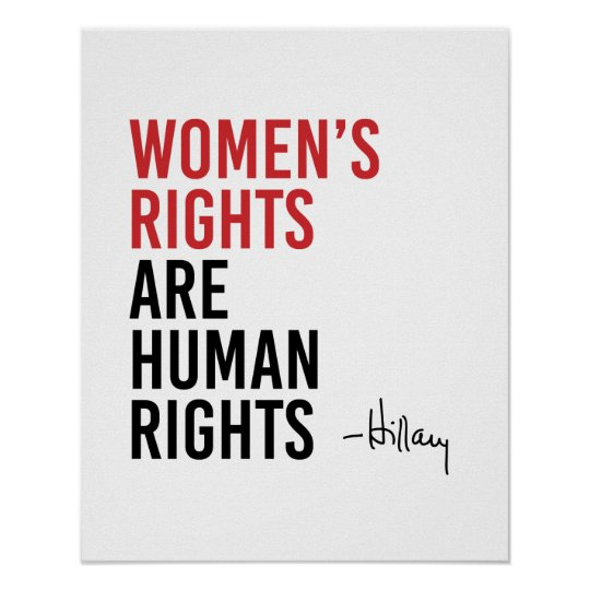 Hillary - Women's Rights are Human Rights - Poster