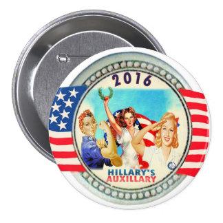 Hillary's Auxillary 7.5 Cm Round Badge