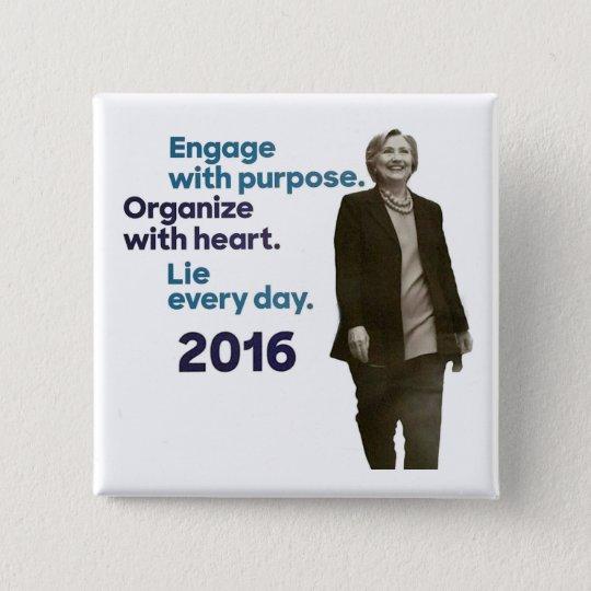 Hillary's Three Rules 15 Cm Square Badge
