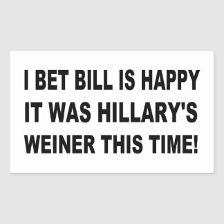 Hillary's Weiner Rectangular Sticker