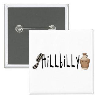hillbilly 15 cm square badge