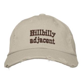 Hillbilly adjacent cap embroidered hats