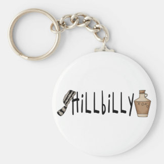 hillbilly basic round button key ring