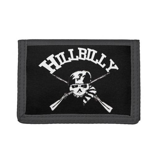 Hillbilly Crossbones Tri-fold Wallets