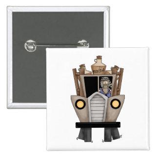 hillbilly driving 15 cm square badge
