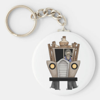 hillbilly driving basic round button key ring