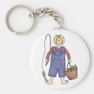 hillbilly fishing basic round button key ring