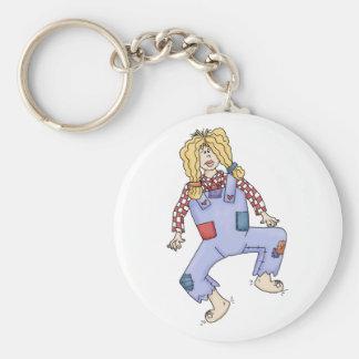Hillbilly gal keychain