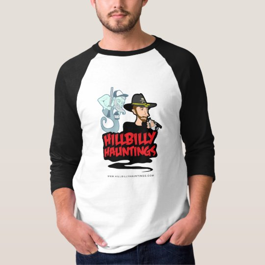 Hillbilly Hauntings 3/4 Sleeve in Black T-Shirt