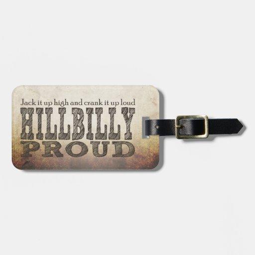 Hillbilly Proud Travel Bag Tags