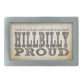Hillbilly Proud Rectangular Belt Buckle