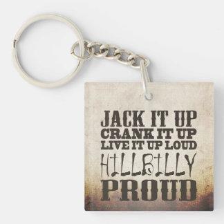 Hillbilly Proud Single-Sided Square Acrylic Key Ring