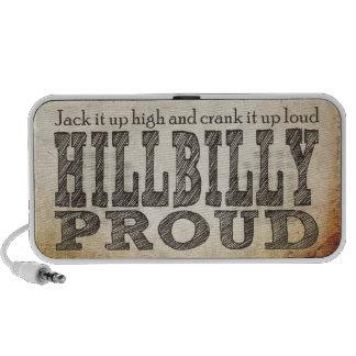 Hillbilly Proud Laptop Speakers