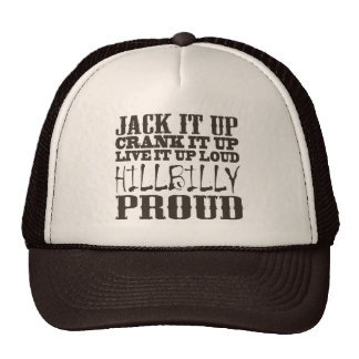 Hillbilly Proud Square Country Block Text Cap