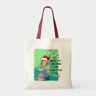 Hillbilly singing about my eight front teeth tote bag