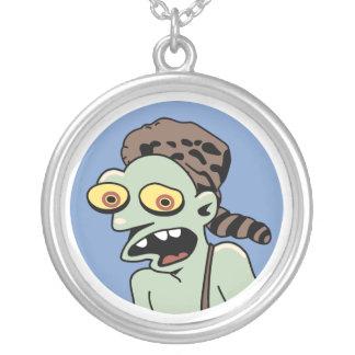 Hillbilly Zombie Round Pendant Necklace