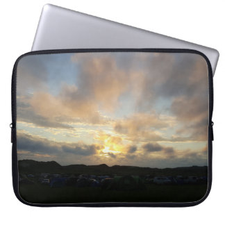 Hillend Campsite Sunset Laptop Sleeve