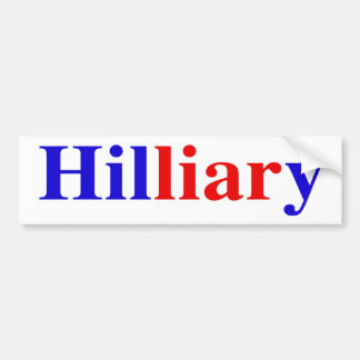 """""""Hilliary"""" Bumper Sticker"""