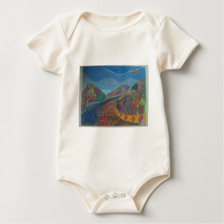 Hills and happiness baby bodysuit