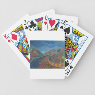 Hills and happiness bicycle playing cards