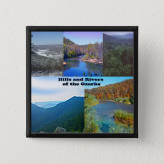 Hills and Rivers of the Ozarks 15 Cm Square Badge