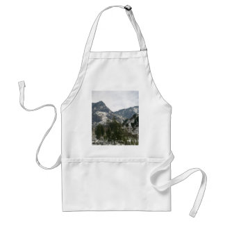 Hills covered with snow apron