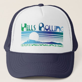 Hills Rolling Trucker Hat with Sunset Design