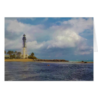 Hillsboro Inlet Light Blank Note Cards