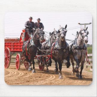 hillsboro ohio draft horse show mouse mat