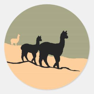 Hillside Alpacas Classic Round Sticker