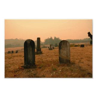 Hillside Cemetery Oregon Photograph