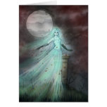Hillside Ghost Fantasy Halloween Art Greeting Cards
