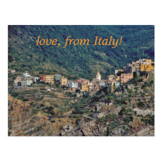 """HILLSIDE ITALIAN VILLAGES/ THE CINQUE TERRE  AREA POSTCARD"