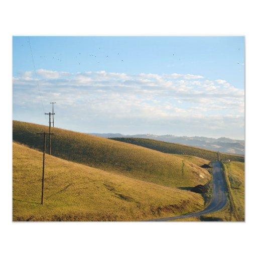 Hillside Landscape Photograph
