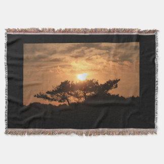 Hillside Sunset Throw Blanket